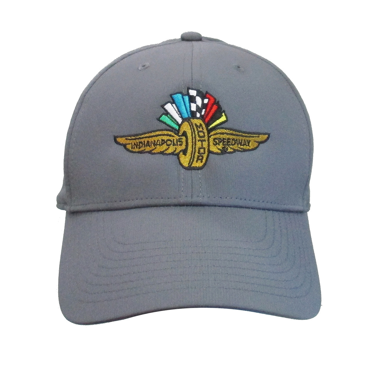 84252fe71bdf Wing Wheel and Flag Nike Dark Grey Cap - Indianapolis Motor Speedway INDYCAR