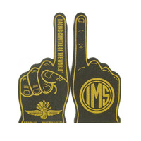 Wing Wheel and Flag 2-Sided Foam Finger