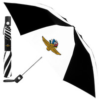 Wing Wheel and Flag Checkered Umbrella