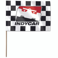 INDYCAR Checkered Stick Flag