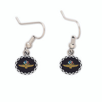 Indianapolis Motor Speedway Checkered Earrings