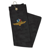 Wing Wheel and Flag Golf Towel