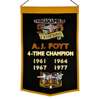 A.J. Foyt 4-Time Winner Wool Banner