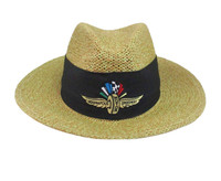 Wing Wheel and Flag Straw Hat