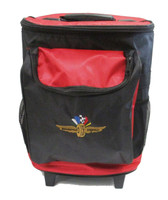 "Wing Wheel and Flag ""The Tracker"" Rolling Cooler"
