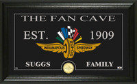 """DROPSHIP"" Indianapolis Motor Speedway Fan Cave Personalized Mint"