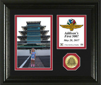 """DROPSHIP"" Race Day Memory Personalized Bronze Coin Desktop Photo Mint"