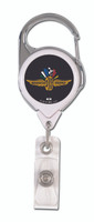 Wing Wheel and Flag Badge Reel Clip