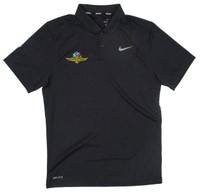 Wing Wheel and Flag Victory Solid Black Nike Polo