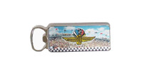 Wing Wheel and Flag Magnet Bottle Opener