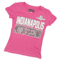 Girls indianapolis Motor Speedway Baby Jersey V-Neck Tee