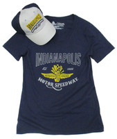 Ladies Indianapolis Motor Speedway City State Hat Tee Combo