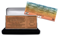 1911 Indy 500 Copper Replica First Ticket