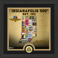 "Indianapolis Motor Speedway State of Indiana Tickets 13""x 13"" Framed Photo"