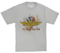 Wing Wheel and Flag Get Your Dirt On Tee