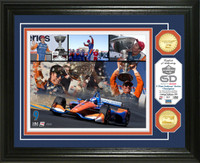 2018 Scott Dixon Verizon INDYCAR Series Champion Frame Piece