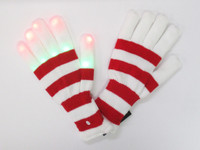 Striped Light Up Gloves