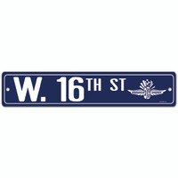 West 16th Street Plastic Sign
