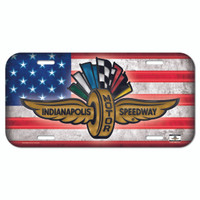 Wing Wheel and Flags Americana License Plate