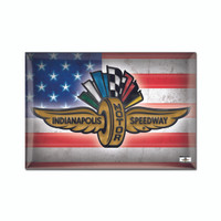 Wing Wheel and Flag Americana 2x3 Magnet