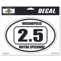 Indianapolis Motor Speedway 2.5 Oval Decal