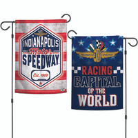 Indianapolis Motor Speedway Americana 2-Sided Garden Flag
