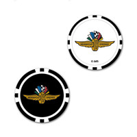 Wings Wheel and Flags 2-Sided Poker Chip Ball Marker