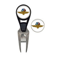 Wing Wheel and Flag Convex Curve Golf Ball Marker Repair Tool