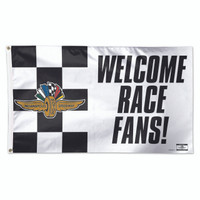 Indianapolis Motor Speedway Welcome Race Fans 3'x5' Flag