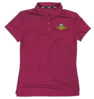 Ladies Wing Wheel and Flag Dry Berry Nike Polo