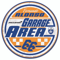 Fernando Alonso Round Driver Sign