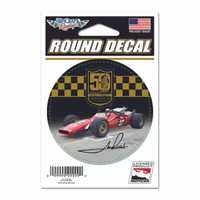 Mario Andretti 50th Anniversary Round Decal