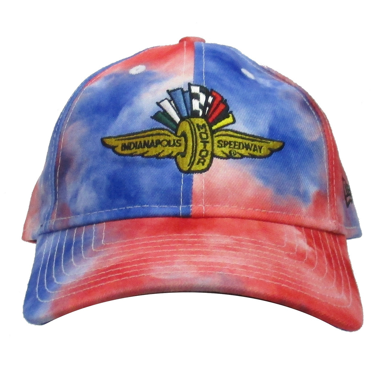 ce7d8403169665 Wing Wheel and Flag Tie Dye New Era 9TWENTY Cap - Indianapolis Motor  Speedway/INDYCAR
