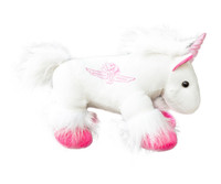 Wing Wheel and Flag Plush Unicorn