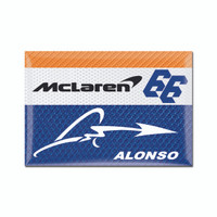 Fernando Alonso 2x3 Driver Magnet