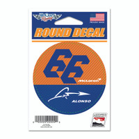 Fernando Alonso Round Driver Decal
