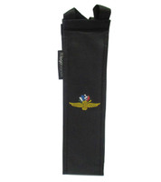 Wing Wheel and Flag Wine Tote