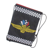 Wing Wheel and Flag Drawstring Bag