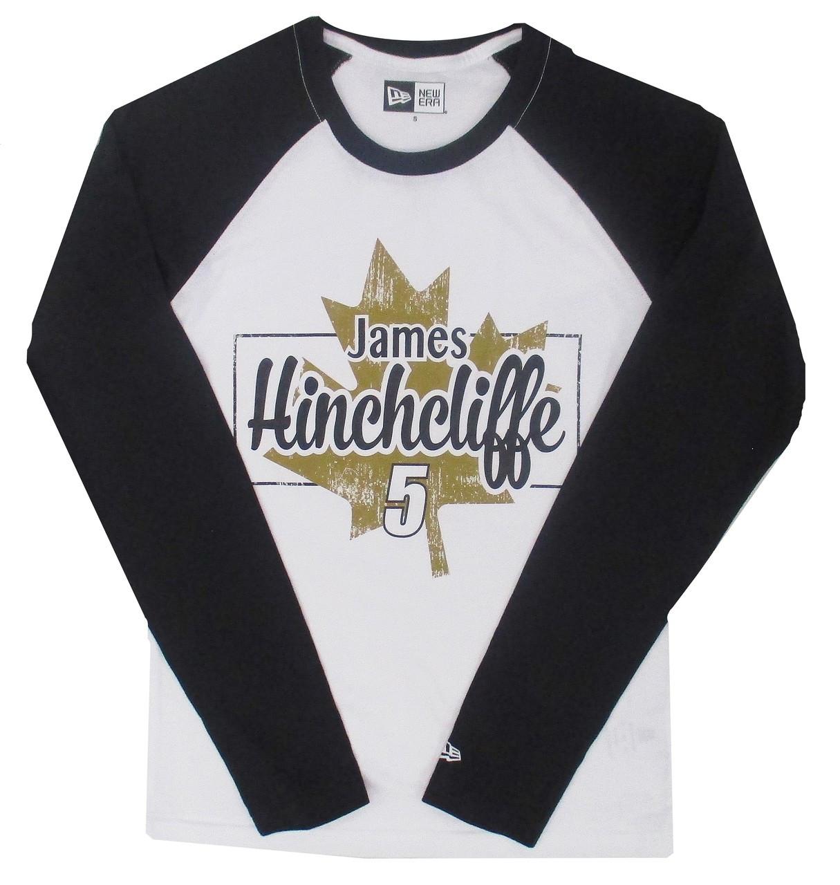 458603d5 James Hinchcliffe Maple Leaf New Era Baseball Tee