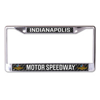 Indianapolis Motor Speedway Carbon Metal License Plate Frame