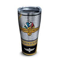 Wing Wheel and Flag Stainless 30oz Tumbler