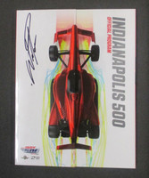 Will Power Signed 2018 Indy 500 Program