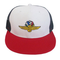 Wing Wheel and Flag Mile High Adjustable Cap