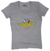 Ladies Indianapolis Motor Speedway Distressed Triblend Tee