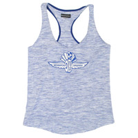 Ladies Space Dye Racer Tank Top