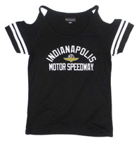 Ladies Indianapolis Motor Speedway Cold Shoulder Tee