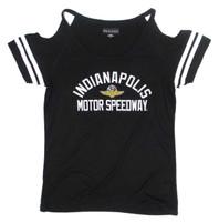 Ladies Indianapolis Motor Speedway Cold Shoulder Tee
