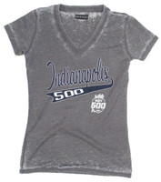 Ladies 2019 Indy 500 Burnout V-Neck Tee