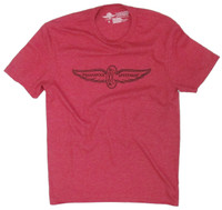 Wing and Wheel Classic 90's Polyblend Tee