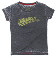 Ladies Indianapolis Motor Speedway Swoosh Burnout Tee